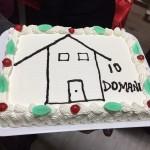 La simpatica torta realizzata appositamente per l'inaugurazione della casa accoglienza.